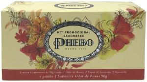 Phebo Tradicional - Kit De Sabonetes (Odor de Rosas 2 x 90 Gr, Toque de Lavanda 2 x 90 Gr e Naturelle 2 x 90 Gr)