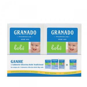 Granado Bebe - Sabonetes em Barra Glicerina 4 x 90 Gr (2 Tradicional, 1 Erva Doce e 1 Lavanda)
